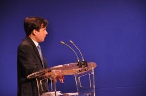 Mercredi 10 juin 2009 – Paris, Ministère de l'Economie –  Stéphane Jacquemet au pupitre à l'occasion de la troisième cérémonie nationale de remise du Prix de la Stratégie d'Entreprise - © Forum de la Stratégie d'Entreprise – Photographe : Gaël Mange – DR.