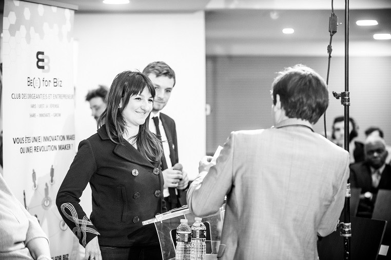 Caroline Lijko (consultante indépendante en management, marketing et communication, membre du LCEA, Le Club des Entreprises d'Asnières, porte-parole du West Side Trophy) - Débat #Ambition - 21 mars 2017 – Be(e) for Biz – Levallois – ISC Paris © Collection privée - Photographe : Edouard Meyer - Deyer Studio - DR.