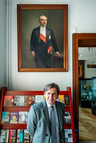 Stéphane Jacquemet à la résidence d'été de Raymond Poincaré – Le Clos de Sampigny – Mercredi 24 octobre 2018 – © Collection privée - Photographe : Edouard Meyer - Deyer Studio - DR.