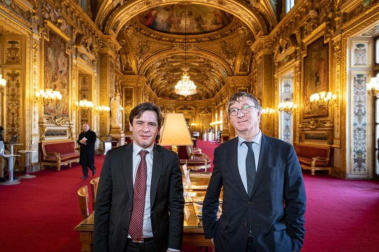 De gauche à droite : Stéphane Jacquemet et Bernard Fournier, Sénateur de la Loire – Paris – Sénat – Palais du Luxembourg - Jeudi 6 février 2020 – © Collection privée - Photographe : Edouard Meyer – Deyer's Studio - DR.