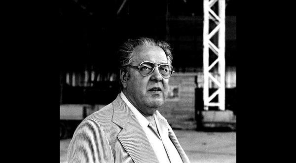 Albert R. Broccoli, producteur de la série de films James Bond, en 1976